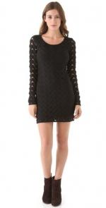 Black longsleeve dress at Shopbop