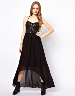 Black maxi dress  at Asos