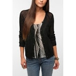 Black mesh cardigan from Urban Outfitters at Urban Outfitters