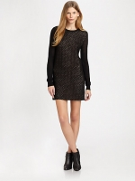 Black mesh dress by DvF at Saks Fifth Avenue