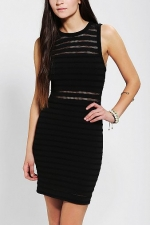 Black mesh dress from Urban Outfitters at Urban Outfitters