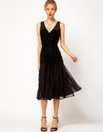 Black midi dress at Asos