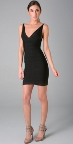 Black mini Herve Leger dress at Shopbop