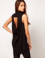 Black open back shirt from ASOS at Asos