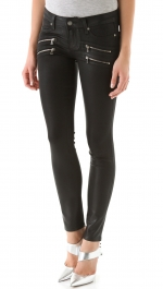 Black pants with double zip pockets at Shopbop