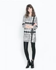 Black patterned dress at Zara