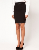 Black pencil skirt at Asos