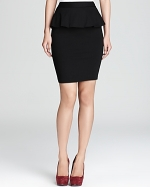Black peplum skirt by Alice and Olivia at Bloomingdales