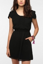 Black pintuck dress at Urban Outfitters