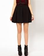 Black pleated skirt at ASOS at Asos