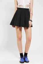 Black pleated skirt at Urban Outfitters at Urban Outfitters
