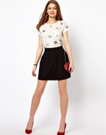 Black pleated skirt from ASOS at Asos