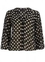 Black polka dot blouse at Dorothy Perkins at Dorothy Perkins