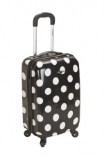 Black polka dot carry on bag at Amazon