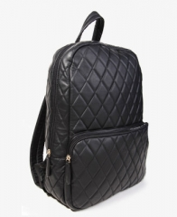 Black quilted backpack at Forever 21