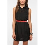 Black shirtdress from Urban Outfitters at Urban Outfitters