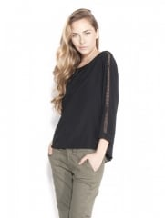 Black silk top by Rag and Bone at Otte