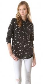 Black star print shirt by Equipment at Shopbop