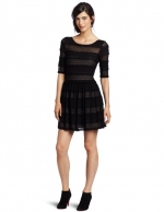 Black striped lace dress at Amazon