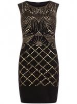 Black stud print dress from Dorothy Perkins at Dorothy Perkins