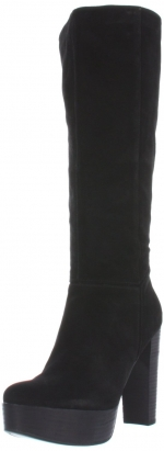 Black suede boots by Nine West at Amazon