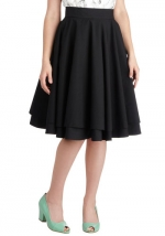 Black swing skirt at Modcloth