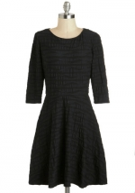 Black textured dress at Modcloth
