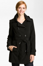 Black trench coat by Calvin Klein at Nordstrom