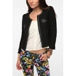 Black tweed jacket from Urban Outfitters at Urban Outfitters