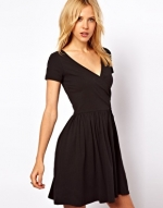 Black wrap dress from ASOS at Asos