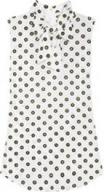 Blairs white polka dot blouse at Net A Porter