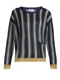 Blanca round-neck striped-jacquard sweater at Matches