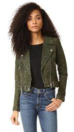 Blank Denim Genuine Suede Moto Jacket at Shopbop