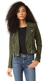 Blank Denim Genuine Suede Moto Jacket at Shopbop