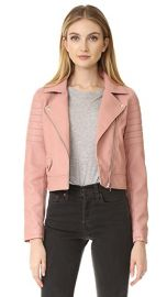 Blank Denim Pretty in Pink Moto Jacket at Shopbop