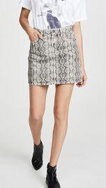 Blank Denim Snake Along Miniskirt at Shopbop
