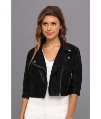 Blank NYC Vegan Leather Crop Jacket in Black Black at Zappos