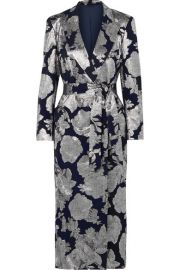 Blaz   Milano - Double-breasted silk-blend jacquard midi dress at Net A Porter