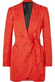Blaz   Milano - Sunshine belted satin-jacquard mini dress at Net A Porter