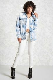 Bleached Denim Jacket at Forever 21