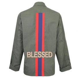 Blessed Army Jacket in Green by Hipchik at Hipchik