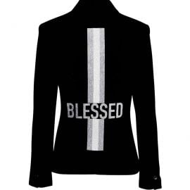 Blessed with Silver Stripes Blazer by Hipchik at Hipchik