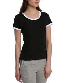 Blis 3 Pack Cotton Casual Workout Ringer Tee with White Pop at Amazon