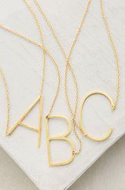 Block Letter Monogram Necklace at Anthropologie