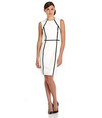 Blocked Sheath Dress by Calvin Klein at Dillards