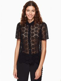 Bloom Flower Lace Top at Kate Spade