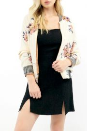 Blossom Print Bomber Jacket by Saltwater Luxe at Shoptiques