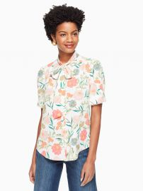 Blossom Tie Neck Top at Kate Spade