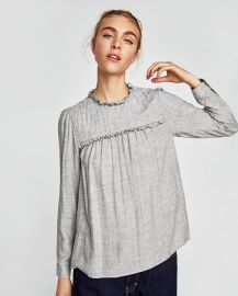 Blouse with Pearl Beads by Zara at Zara