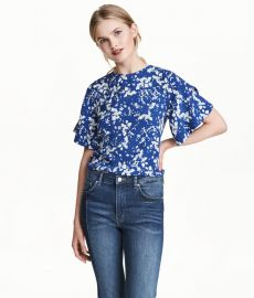 Blouse with Trumpet Sleeves at H&M